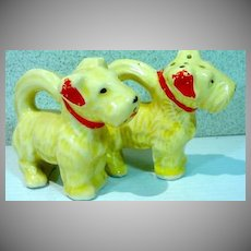 Charming Doggie Salt and Pepper Shakers, 1940's