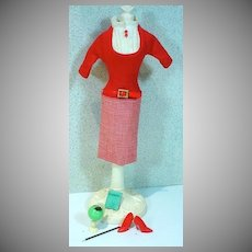 Vintage Mattel Barbie Outfit, Student Teacher, 1965