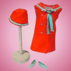 Vintage Mattel Francie Outfit, Land Ho! 1969