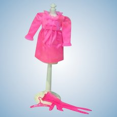 Vintage Mattel Barbie Outfit, Little Bow-Pink, 1969