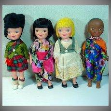 1964/65 New York World's Fair It's A Small World 8 inch Dolls, Set of 4