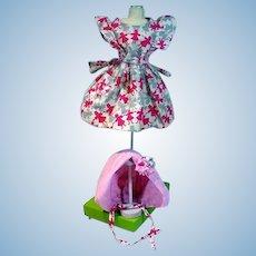 Vintage 1950's Doll Dress & Bonett!