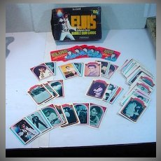 Complete Set of Elvis Presley Trading Cards w/Outer Display Box, 1978
