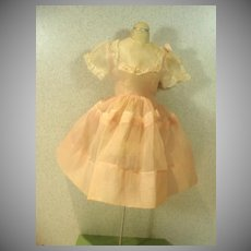 Vintage 1960's Cotton Voile Doll Dress