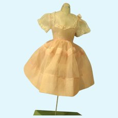 Vintage 1960's Cotton Voile Doll Dress