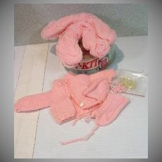 Vogue Ginny Doll Knit Kit Set, 1957, Complete