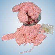 Vogue Ginny Doll Knit Kit Set, 1957, Complete