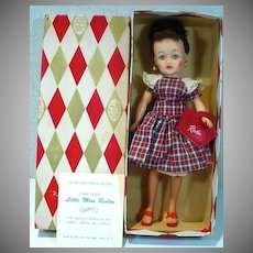 MIB Ideal Brunette High Color Little Miss Revlon Doll, 1950's