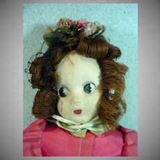 Charming 1942 Madame Alexander Little Shaver Cloth Doll