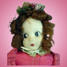 Charming 1942 Madame Alexander Little Shaver Cloth Doll