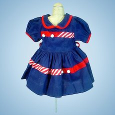 Vintage Navy Dress for 1950's Mary Jane (Terri Lee Knock Off Doll)