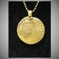 Unusual, Ancient Symbol Medallion on Sterling Silver Chain