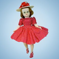 Vintage Madame Alexander Cissette in Day Dress & Hat, 1958