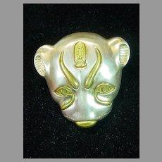 MMA Egyptian Pendant/Brooch, Sekhmet Lioness, 1976