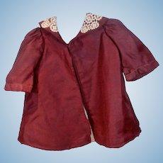 Vintage Silk Gabardine Doll Coat, 1920's-30s