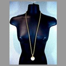 Vintage Anne Klein Pearl Drop Pendant Necklace, 1980's