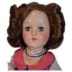 Ideal 14 Inch Toni Doll, Brunette Hair, 1949