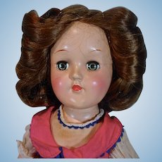 Ideal 14 Inch Toni Doll, Brunette Hair, 1949