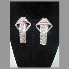 Vintage 1980's Whiting and Davis Clip on Dangle Earrings