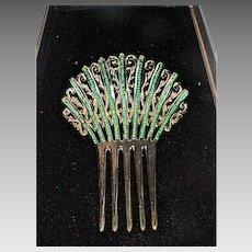 VIntage Celluloid Ornate Ladies Hair Comb, 1920, Beautiful!