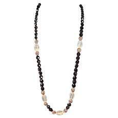 Vintage 1970's Pauline Rader Resin Bead Necklace