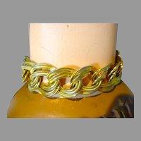 Vintage Anne Klein Gold Tone Metal Link Bracelet, 1980's