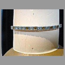 Elegant 1930's Paste Sterling Bracelet