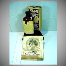 Circa 1920's Farr's For Gray Hair in Original Packing