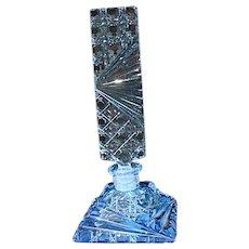 Delicate Czechoslovakian Crystal Perfume Bottle, 1920's