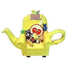 Beanie Baby Ceramic Teapot, Ltd. Ed, 1999 J, Bailey