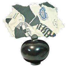 Signed Juliete Pottery Perfume Ceramic Bottle w/Stopper,  Susan & Richard Parkinson,