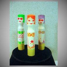 VIntage 1960's Cutex Bikini Lipstick Doll Cases!