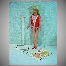 Vintage Mattel Platinum Blond Skipper Doll, 1964
