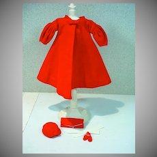 Vintage Mattel Barbie Outfit, Red Flare, 1962