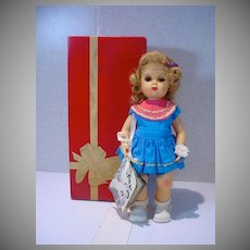MIB Tiny Terry Lee Doll with Hang Tag and Flower, 1955