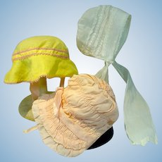 Vintage Doll Bonnets. 1930's and 1940's
