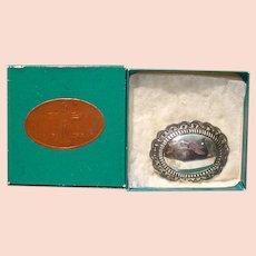 Vintage Sterling Silver Belt Buckle, Navajo Artist, Marcella James