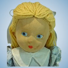 Vintage 1930's Madame Alexander Cloth Alice In Wonderland Doll