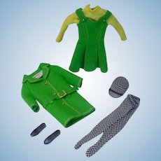 Vintage Mattel Skipper Outfit, Town Togs, 1965