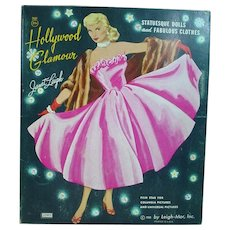 Vintage Janet Leigh Paper Dolls with Folder, 1958