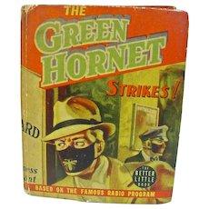 Vintage 1940 The Green Hornet Strikes! Big Little Book