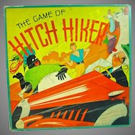 "Vintage Board Game ""The Game of Hitch Hiker"", 1937 Whitman, Complete, Rare!"