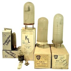 Grouping of Vintage Photographic Replacement Lights