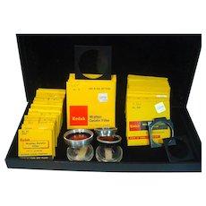 Grouping of Vintage Photographic Kodak Gelatin Filters, Frames and Lens Adaptors