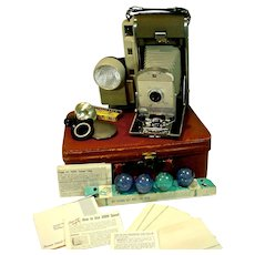 Vintage 1957Polaroid Model 800 Land Camera with Additional Accessories