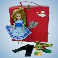 1956 Richmond Toys Sandra Sue w/ Trunk and Accessories