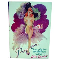 "Original 1940's NYC Night Club ""Latin Quarter"" Program, Pin Up Girl"