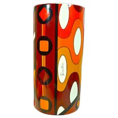 Rare Emilio Pucci Vase, 1970's, Rosenthal , Germany Studio Line