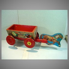 Hard To Find 1950's Roy Rogers Chuck Wagon by The N. H. Hill Brass Company