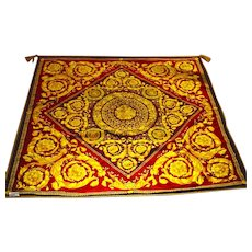 "Gianni Versace Label, Double Sided 52"" Square Throw"